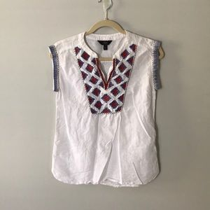 J. CREW Embroidered Blouse